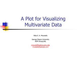 A Plot for Visualizing Multivariate Data