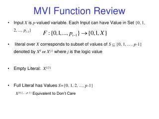 MVI Function Review