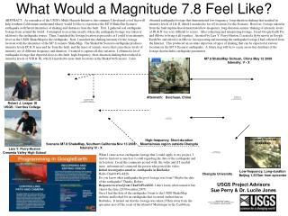 What Would a Magnitude 7.8 Feel Like?