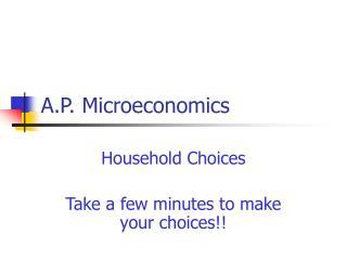 A.P. Microeconomics