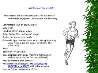 MX Parent Survival Kit