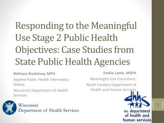Bethany Bradshaw, MPH Applied Public Health Informatics Fellow,