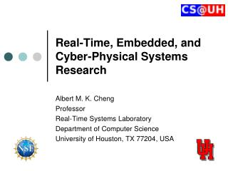 Real-Time, Embedded, and Cyber-Physical Systems Research