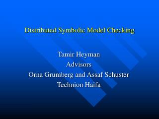 Distributed Symbolic Model Checking