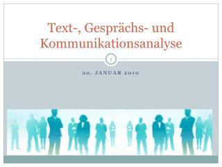 Text-, Gespr chs- und Kommunikationsanalyse