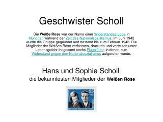 Geschwister Scholl