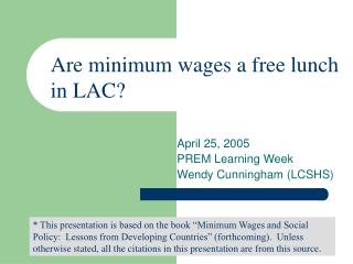 April 25, 2005 PREM Learning Week Wendy Cunningham (LCSHS)