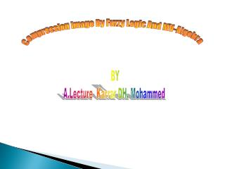 BY A.Lecture  Karrar DH. Mohammed