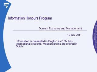 Information Honours Program