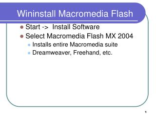 Wininstall Macromedia Flash