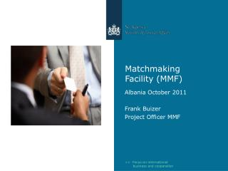 Matchmaking Facility (MMF)