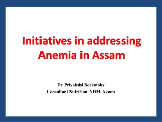 Reducing Maternal and Neonatal Anemia to Enhance Health