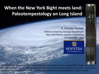 When the New York Bight meets land: Paleotempestology on Long Island