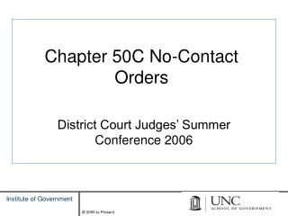 Chapter 50C No-Contact Orders