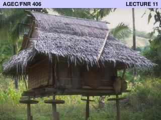 AGEC/FNR 406                                                         LECTURE 11