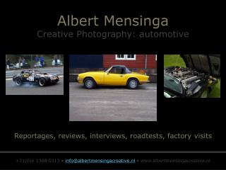 Albert Mensinga Creative Photography: automotive