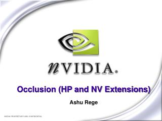 Occlusion (HP and NV Extensions)