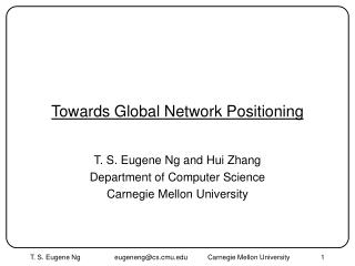 Towards Global Network Positioning