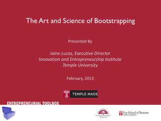 The Art and Science of Bootstrapping