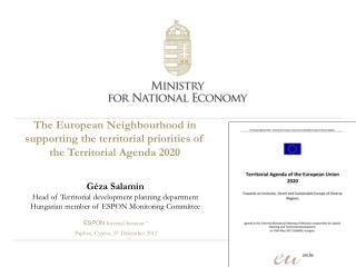 "ESPON  Internal Seminar ""  Paphos, Cyprus ,  5 th  December 2012"