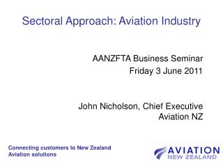 Sectoral Approach: Aviation Industry
