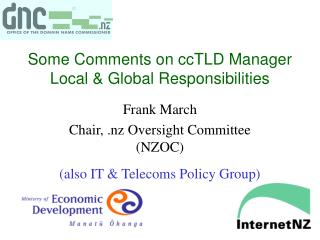 Some Comments on ccTLD Manager Local & Global Responsibilities