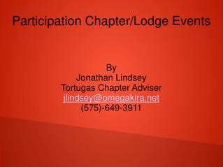 Participation Chapter/Lodge Events