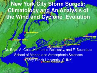New York City Storm Surges: Climatology and An Analysis of the Wind and Cyclone  Evolution