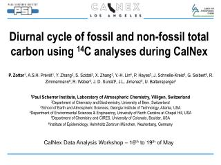 Diurnal cycle of fossil and non-fossil total carbon using  14 C analyses during CalNex