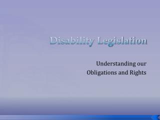 Disability Legislation