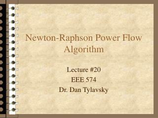 Newton-Raphson Power Flow Algorithm