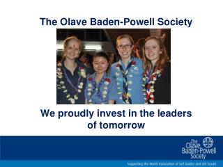 We proudly invest in the leaders of tomorrow