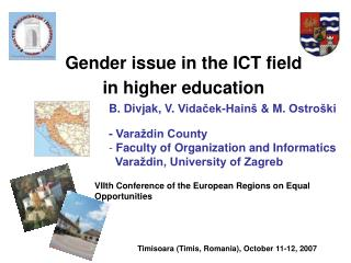 Gender issue in the  ICT  field  in  higher education
