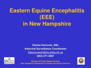 Eastern Equine Encephalitis (EEE) in New Hampshire