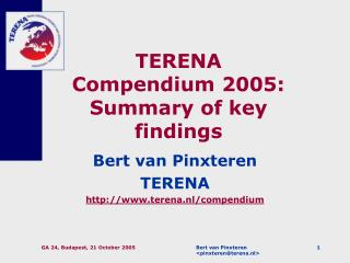TERENA Compendium 2005: Summary of key findings
