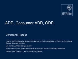 ADR, Consumer ADR, ODR