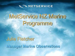 MetService NZ Marine Programme