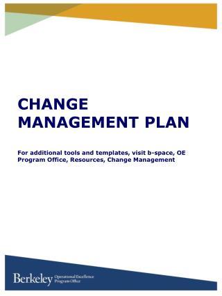 Results Delivery Plan: Framework for Change