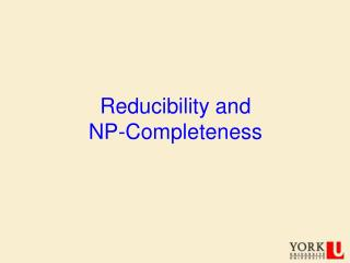 Reducibility and  NP-Completeness