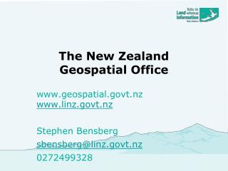 The New Zealand  Geospatial Office