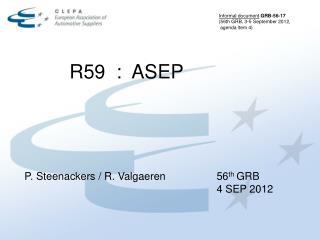 R59  :  ASEP