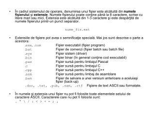 Exemplu de structură arborescentă (de directoare).