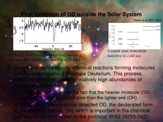 First Detection of OD outside the Solar System