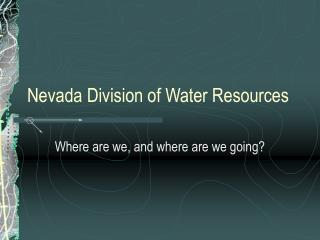 Nevada Division of Water Resources