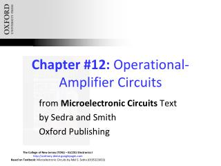 Chapter #12:  Operational-Amplifier Circuits