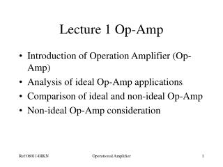 Lecture 1 Op-Amp