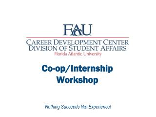 Co-op/Internship   Workshop