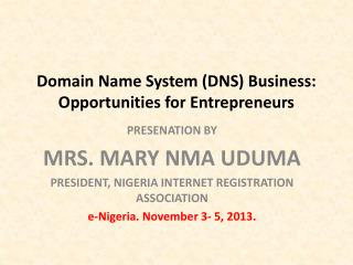 Domain Name System (DNS) Business: Opportunities for Entrepreneurs