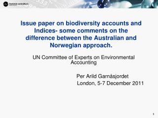 UN Committee of Experts on Environmental Accounting
