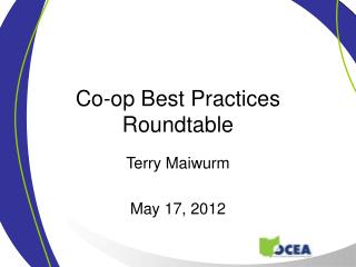 Co-op Best Practices Roundtable